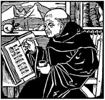 monk-writing